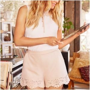 LC LAUREN CONRAD Faux-Suede Eyelet Shorts Pink S